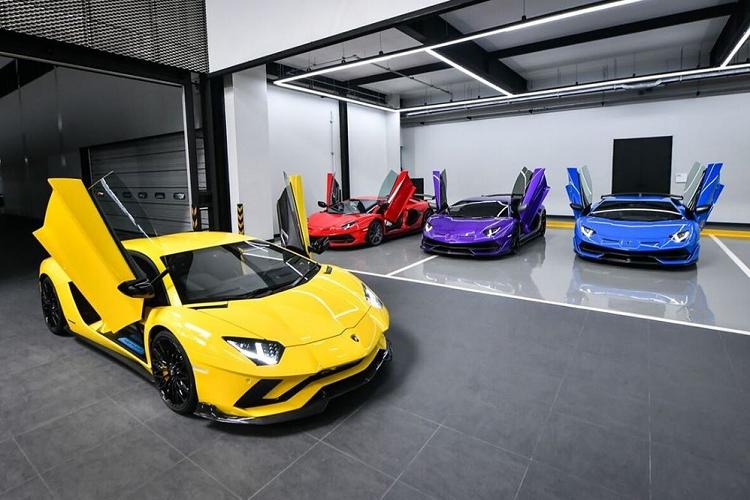Ngắm dàn siêu xe Lamborghini Aventador SVJ của đại gia Thái Lan 3a