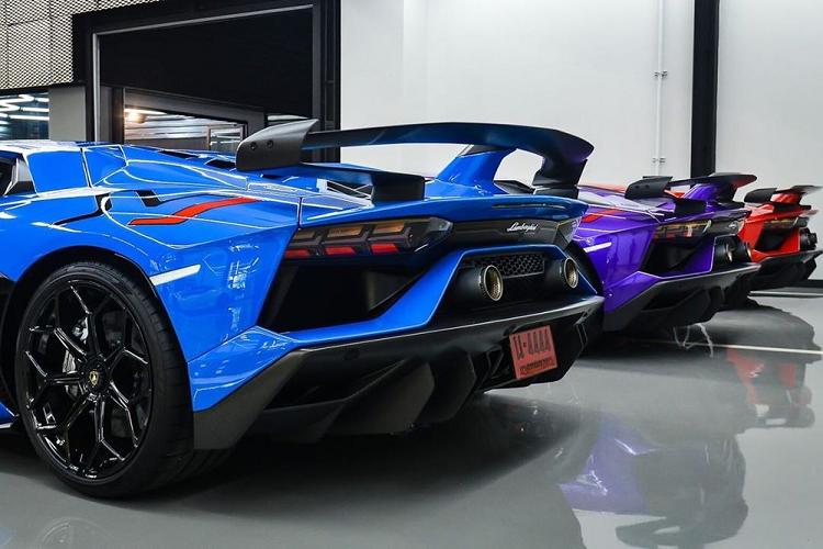 Ngắm dàn siêu xe Lamborghini Aventador SVJ của đại gia Thái Lan 2a