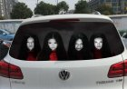 Trung Quốc rộ mốt dán decal ma quỷ lên xe hơi