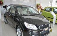 Bán Chevrolet Aveo 1.5LT màu đen, xe mới hỗ trợ ngân hàng 80% giá 459 triệu tại Tp.HCM