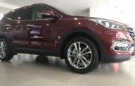 Bán Hyundai Santafe 2018 full xăng màu đỏ, xe có sẵn giao ngay, hỗ trợ mua trả góp lãi suất ưu đãi giá 1 tỷ 100 tr tại Tp.HCM