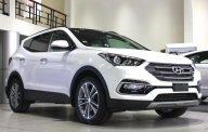 Bán Santa Fe 2018 màu trắng, full xăng, xe có sẵn giao ngay, hỗ trợ vay NH lãi suất cực ưu đãi giá 1 tỷ 100 tr tại Tp.HCM
