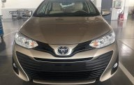 Bán xe Toyota Vios 1.5E CVT màu nâu, tăng gói bảo dưỡng 20.000km, hỗ trợ trả góp 90% giá xe. LH: 0912493498 giá 569 triệu tại Tp.HCM