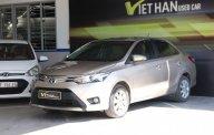 Cần bán Toyota Vios G 1.5AT sản xuất năm 2017, màu vàng cát giá 566 triệu tại Tp.HCM
