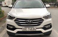 Bán Hyundai Santa Fe 2.4 2017, màu trắng, chính chủ giá 1 tỷ 45 tr tại Hà Nội