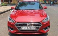 Bán Hyundai Accent năm sản xuất 2018, màu đỏ, xe mới 98% giá 495 triệu tại Tp.HCM