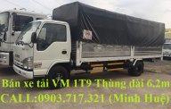 Xe Vĩnh Phát 1T9 thùng mui bạt dài 6m2. Xe tải VM 1T9 thùng mui bạt dài 6m2 giá 545 triệu tại Bình Dương