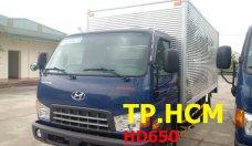 TP. HCM Hyundai HD 650 đời mới, màu xanh lam, thùng kín inox 430 giá 642 triệu tại Tp.HCM