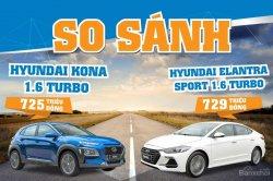 Chọn Hyundai Kona 1.6 Turbo hay Elantra Sport 1.6 Turbo trong tầm giá 725 triệu?