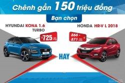 Chênh gần 150 triệu: Chọn bản cao cấp Honda HR-V L hay Hyundai Kona Turbo?
