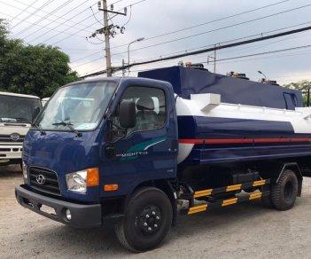 Bán Hyundai Mighty 110S bồn NL 8m3 đời 2019, màu xanh lam, giao ngay