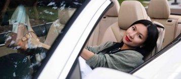 Người đẹp và xe: Người  mẫu lịch Y phung bên xe sang