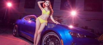Người đẹp và xe: Siêu mẫu mờ ảo bên Chevrolet